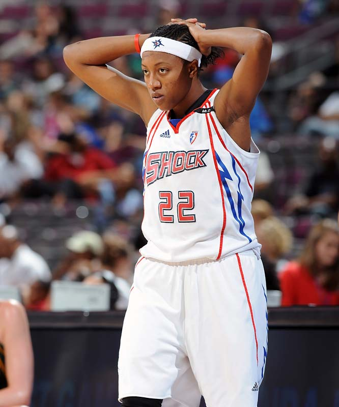 Two weeks ago it looked like the Alexis Hornbuckle (pictured) and the Shock might make a push for the final playoff spot in the East. But after a three-game skid, it's looking more like they might not get a chance to defend their WNBA title. Consecutive losses at Atlanta (80-75), at Indiana (82-59) and against Seattle (79-75) undid a lot of positive momentum. And with three games in four days against likely playoff contenders -- including two on the road -- the Shock are going to have to work hard to get it back.<br><br>Next three: 8/22 at Chicago; 8/23 vs. San Antonio; 8/25 at Connecticut