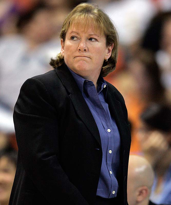 After a 6-11 start to the season, the Liberty showed coach Pat Coyle (pictured) the door last Friday. Coyle, who led New York to an 81-90 record and two Eastern conference finals appearances, was replaced by highly decorated assistant Anne Donovan.  She joined the Liberty staff this season after leading the US women's team to a gold medal in the Beijing Olympics. Prior to that, she was 138-128 as a WNBA head coach with Indiana, Charlotte and Seattle, where she won a title in 2004. Still, she remains winless since taking over the Liberty, losing to Atlanta (89-83) and Detroit (76-64).<br><br>Next three: 8/7 at Sacramento; 8/8 at Seattle; 8/11 at Los Angeles
