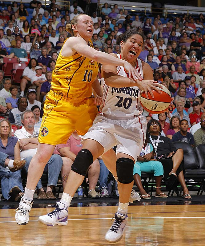 The Monarchs split the week again, notching an impressive 101-93 overtime victory over San Antonio before losing to Los Angeles 59-56 two days later. But if they want to elbow their way into the playoff conversation, they can't afford to keep splitting the difference. Victories in rematches against the Silver Stars and the Sparks would put Kara Lawson (pictured) and the Monarchs in the hunt for the fourth and final playoff spot in the West.<br><br>Next three: 8/7 vs. New York; 8/11 at San Antonio; 8/14 at Los Angeles