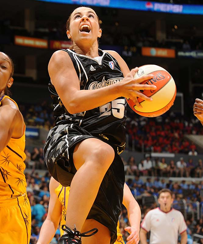 Like the Storm, the Silver Stars feature a dominant All-Star in Becky Hammon (pictured) and yet are laboring to break even in the win-loss column. But unlike the Storm, the Silver Stars' woes could soon be over now with the third member of their Big Three is back in the mix. After sitting out the first half of the season to recoup from a hectic overseas playing schedule, veteran center Ann Wauters re-signed with the team last Friday. The 6-foot-4 Belgian averaged 14.7 points and 7.5 rebounds last year in San Antonio's WNBA finals run last year.<br><br>Next three: 8/6 vs. Atlanta; 8/9 at Minnesota; 8/11 vs. Sacramento