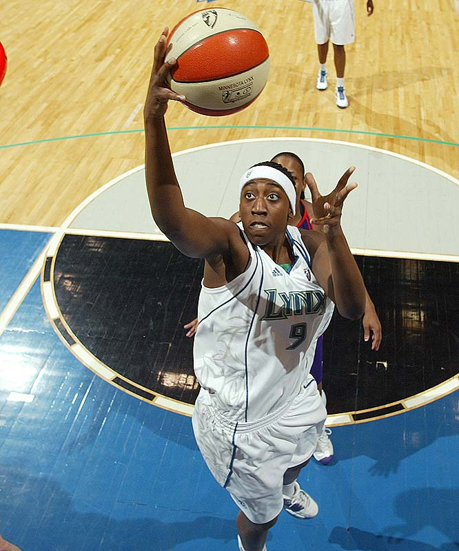 Remember when the Lynx were 9-6 and challenging the Mercury for the top spot in the West? Well, since they've gone 1-4, most recently suffering an 87-74 to Phoenix at the Target Center. Rookie center Quanitra Hollingsworth (pictured) had a season-high 17 points in that game, but she was only one of two Lynx players to reach double figures. If she doesn't get help soon, Minnesota could find itself outside of the playoff picture yet again. <br><br>Next three: 8/7 vs. Connecticut; 8/9 vs. San Antonio; 8/13 vs. Indiana