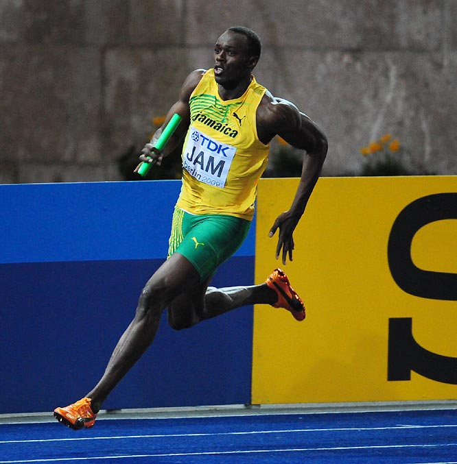 Usain Bolt won his third gold medal of the worlds, helping the Jamaica 400-meter relay team to the second-fastest time in history at 37.31 seconds.