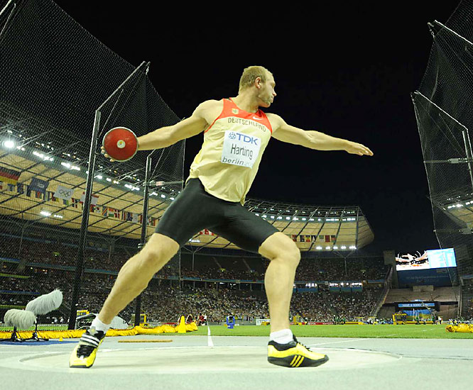 Robert Harting's gold medal in the discus was the second for host Germany.