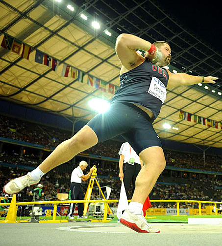 Christian Cantwell of the U.S. won the gold medal in the shot put.