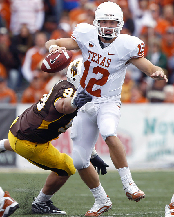 After a slow start, Longhorns QB Colt McCoy (337 yards passing, 3 TDs; 44 yards rushing, 1 TD) rallied his club to 28 unanswered points in the second half.