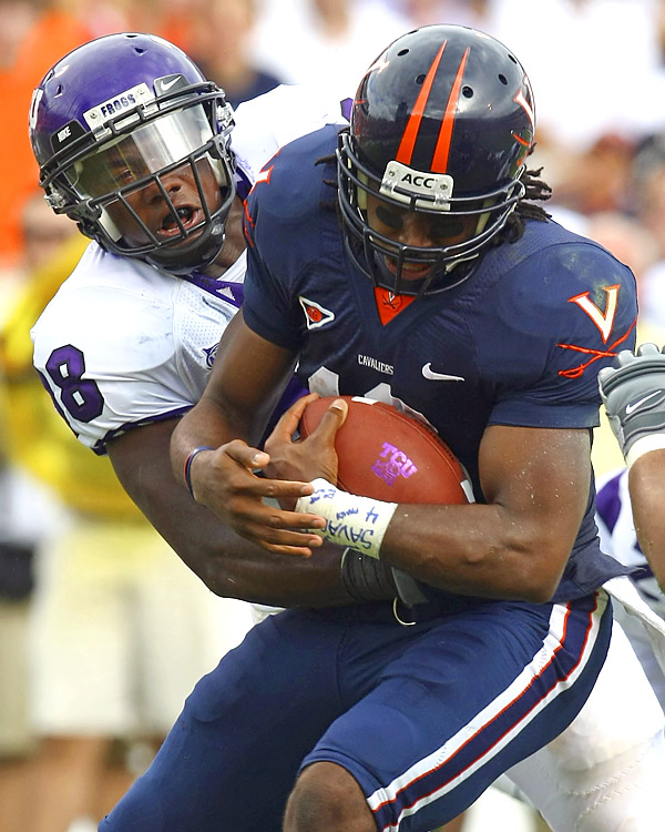 The Horned Frogs proffered a commanding 30-0 lead at Charlottesville on the strength of a defense that allowed just seven first downs and 177 yards.