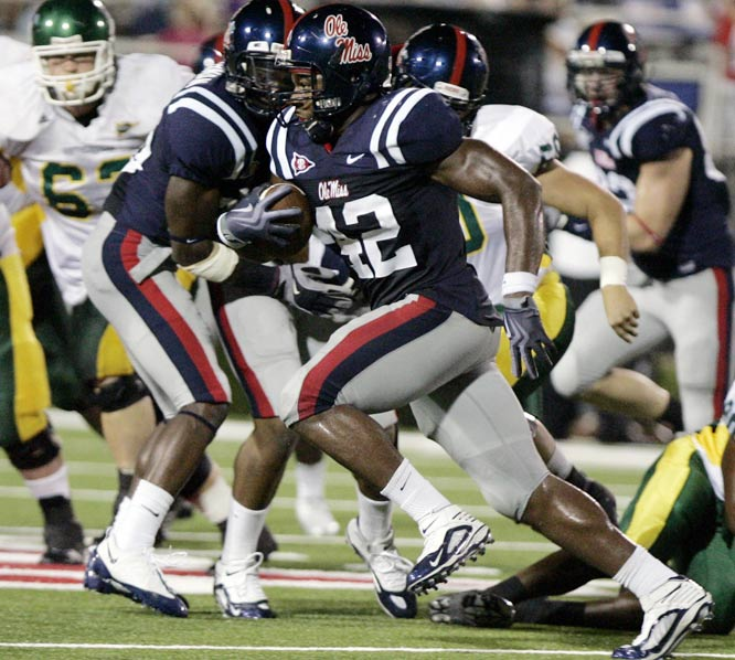 The Rebels forced five turnovers, didn't allow a third-down conversion in 14 tries and got a 58-yard interception return for a score out of D.T. Shackelford as they won their eighth straight. Quarterback Jevan Snead completed 16 of 28 passes for 208 yards and three touchdowns. Mississippi opens SEC play at South Carolina on Thursday.