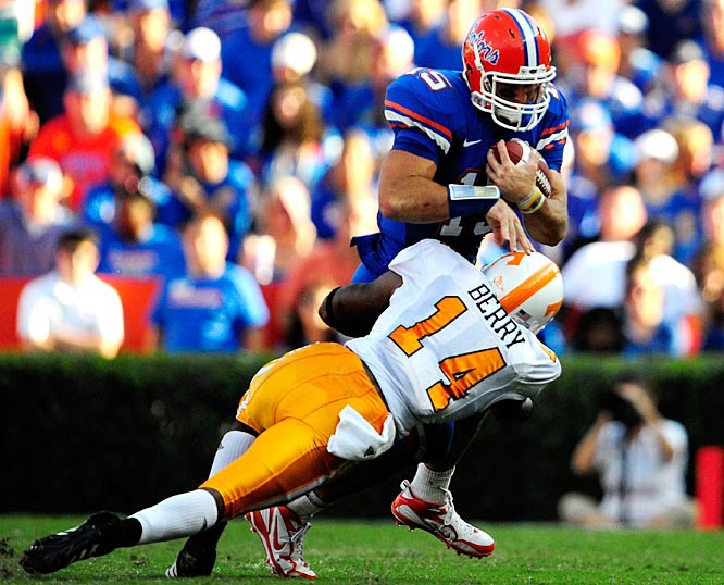 Florida won the game, but Eric Berry and the Tennessee defense made life difficult for Tim Tebow and his receivers. Florida faces Kentucky next.