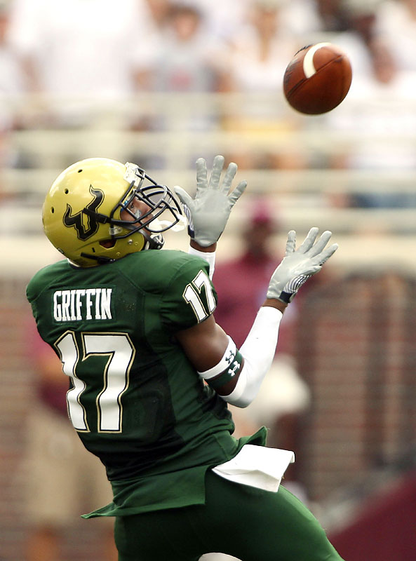 Sterling Griffin caught a 73-yard touchdown pass, one of two the Bulls had in their first win over instate rival Florida State.
