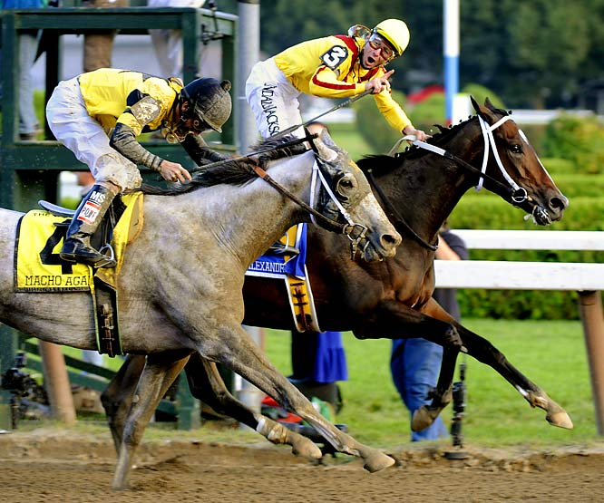 The sensational 3-year-old filly became the first female to win the prestigious Woodward Stakes on Saturday (Sept. 5), holding off Macho Again by a head and leaving six others in her wake.