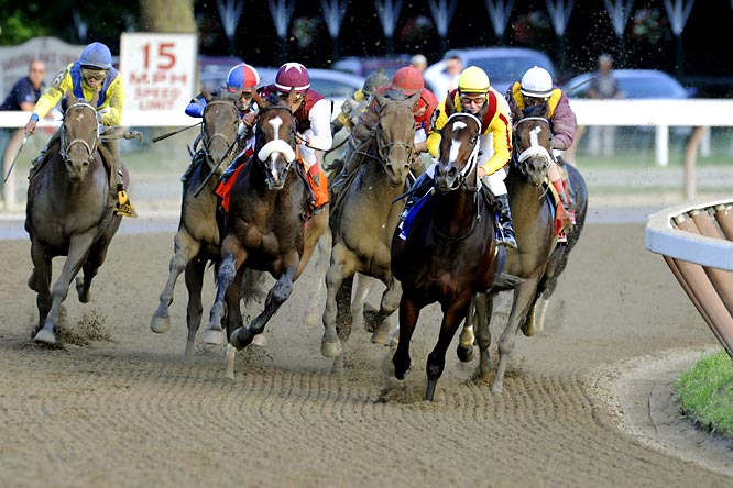 She beat 4-, 5- and 6-year-olds in an electrifying race before a cheering crowd of 31,171 at Saratoga Race Course for her ninth consecutive victory, all but clinching Horse of the Year honors.
