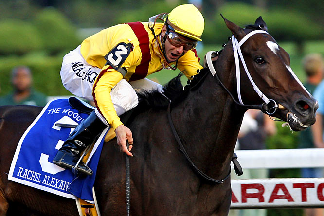 Rachel Alexandra beat 3-year-olds boys in the Preakness and the Haskell Invitational, and overwhelmed 3-year-old fillies in the Kentucky Oaks (20 1/4 lengths) and the Mother Goose Stakes (19 1/4 lengths) at Belmont.