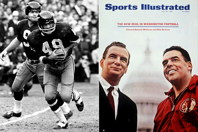 Their fans surely did not enjoy that streak of 12 straight losing seasons, but even more depressing was the 25-year stretch from 1946 to 1971 when the Redskins failed to reach the playoffs. Pictured (left) is Bobby Mitchell (1962-68 Redskins).