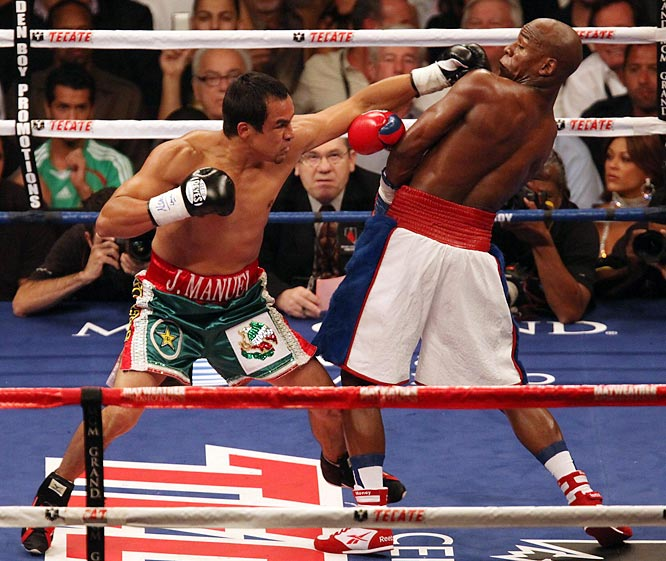 With the win, Mayweather extended his career record to 40-0 with 25 KOs. Marquez's record dropped to 50-5-1, 35 KOs.