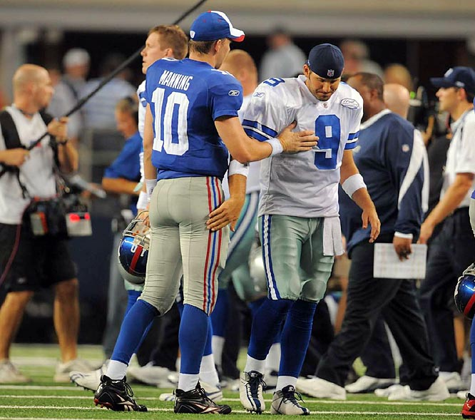 Being the good sport that he is, Manning sought out Dallas quarterback Tony Romo after the game.