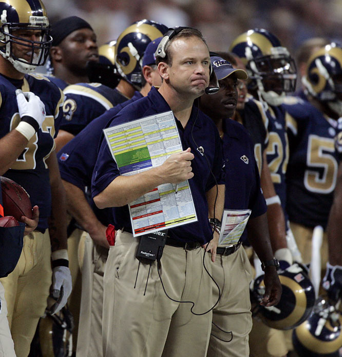 Bad hire, of course, but he was a longtime assistant coach who had success in various other places. He'd coached in high school, in college, he was offensive coordinator for the Vikings and Dolphins. I don't think the hire itself compares to Mangini, though I certainly feel the Rams fans pain of having to endure two and a half seasons with him as coach.