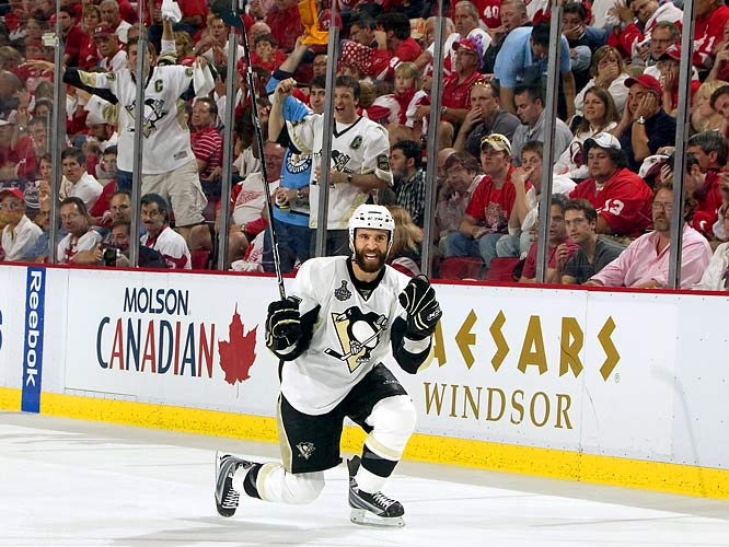 Though he's out until midseason after surgery on his left shoulder, Talbot's postseason heroics (both goals for Pittsburgh in their decisive Game 7 win over Detroit) cemented his reputation as a clutch ''glue guy'' -- not a star, but a role player taking a star turn. The 2002 eighth-round pick also scored the game-winner in the 2008 Eastern Conference Final and the last-minute tying goal against Detroit in Game 5 of the 2008 Cup final. <br>-- <i>Darren Eliot</i>