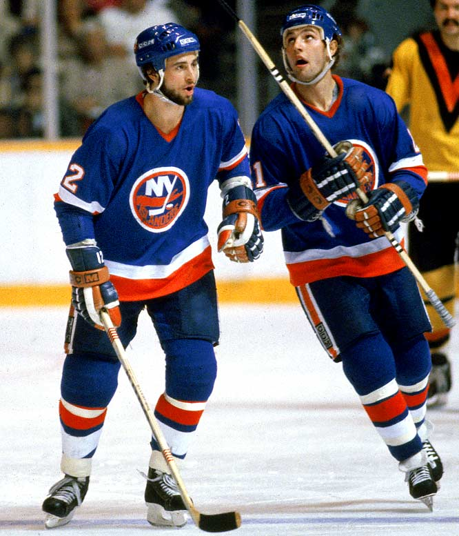 The scrappy winger (left) was given his nickname while with the Islanders from 1979-87, due to his constant yapping at opponents and on-ice officials.