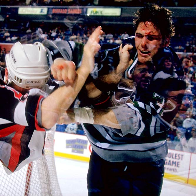 The Grim Reaper was a natural nickname for one of the NHL's most feared enforcers of the 1990s. Like the dark-hooded agent of death, the 6-foot-5 Grimson was not above using his stick on hapless souls.