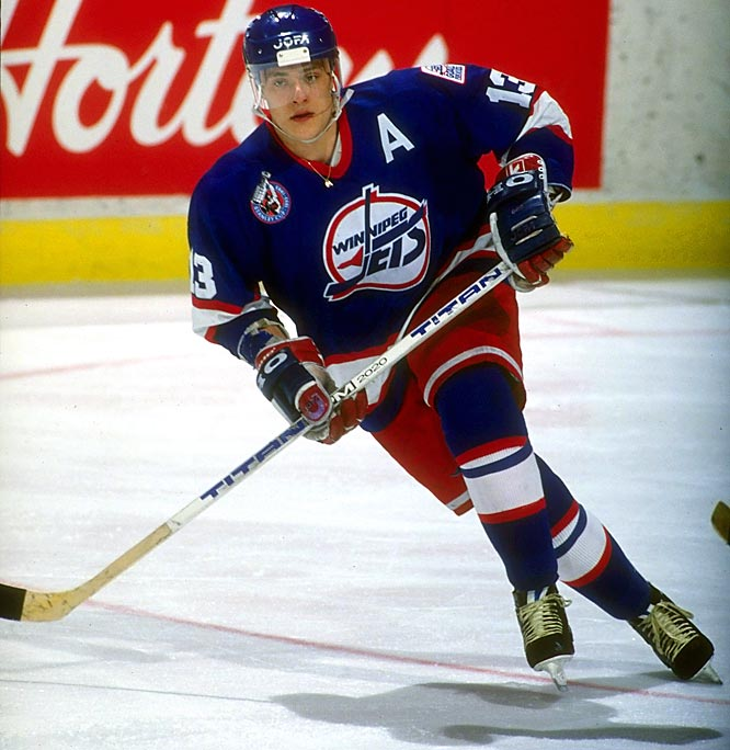 The former kindergarten teacher from Espoo, Finland, credits Winnipeg Free Press sports scribe Ken Campbell for bestowing the nickname after the swift-skating, electrifying Selanne scored a rookie-record 76 goals for the Jets in 1992-93.