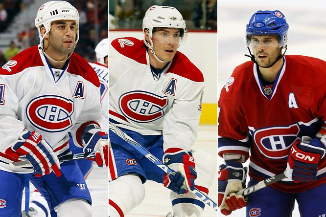 Trying to put their disastrous centennial season behind him, Montreal GM Bob Gainey embarked on an ambitious roster overhaul that saw the torch passed from Alexei Kovalev, Saku Koivu and Alex Tanguay to (left to right) Scott Gomez, Mike Cammalleri and Brian Gionta, among others. As an experiment in forced chemistry, the changes are being met with low expectations. The Habs could surprise.