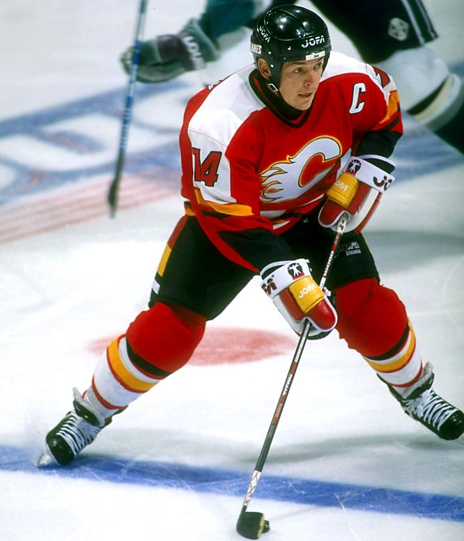 Fleury became the Flames' captain in 1995 and, two seasons later, potted his 315th career goal to pass Joe Nieuwendyk as the franchise's all-time leading scorer. His accomplishments seemed even more remarkable when he revealed in 1996 that he was battling Crohn's disease, a debilitating digestive ailment.