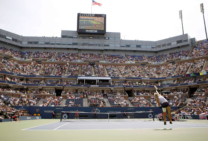 Oudin was not overwhelmed by the big stage in her three-set, come-from-behind win over Petrova.