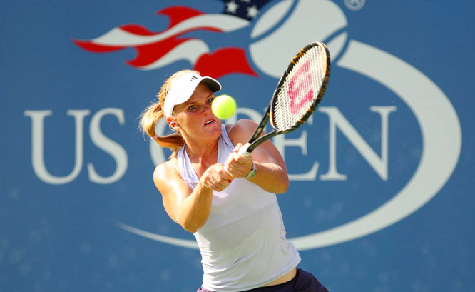 Melanie Oudin, 17, has become a household name at the U.S. Open, upsetting Elena Dementieva, Maria Sharapova and Nadia Petrova. Here are some of the best shots of her at the Open.