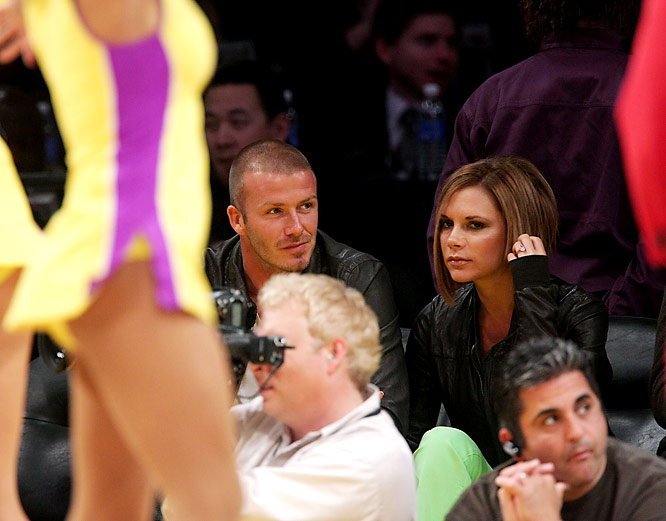 Even if David isn't a big fan of Los Angeles and is pining for a return to Europe, he loves the Lakers Girls. That's just fine for Victoria, who reportedly bought a cheerleader outfit modeled after the famous Lakers Girls uniform. We'll let you imagine how the Beckhams will use that outfit in the privacy of their own home.