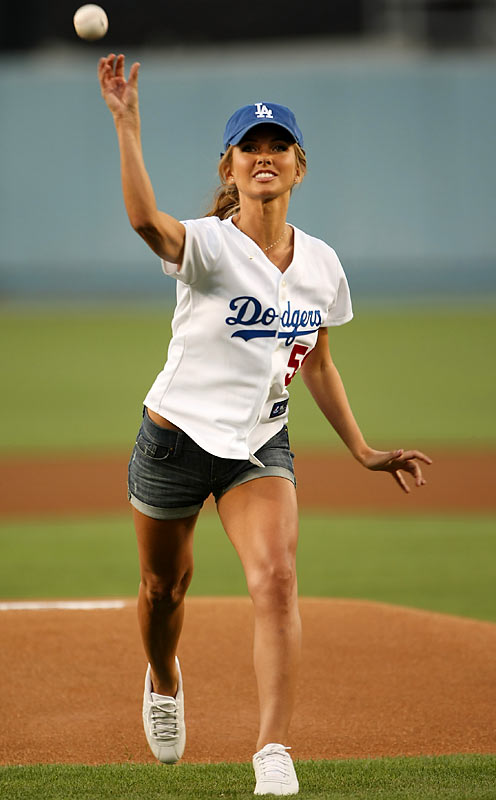 "If Dodgers fans are looking for a reason their team is fading at the end of the season, look no further than inexplicably allowing reality show ""stars"" like Audrina Partridge to throw out the first pitch at games. It would be one thing if the team didn't play in Hollywood, but you think they could get better celebrities to throw out the first pitch than the entire cast of ""The Hills."""