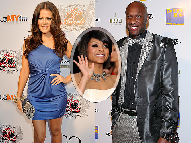So Lamar Odom goes from dating Oscar nominee Taraji P. Henson (inset) to reality TV mess Khloe Kardashian. Lakers fans can only hope that his on-court game hasn't dipped as much as the talent level of his girlfriends in the offseason.