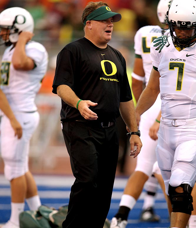 After watching his alma mater flop in a season-opening loss at Boise State, an Oregon season-ticket holder wrote the team's head coach, Kelly, and included a business invoice for a refund for his airfare to Boise. Instead of laughing it off, Kelly reportedly sent the fan a personal check that covered the trip. In a related story, Pete Carroll can expect a stack of business invoices from USC fans this week.