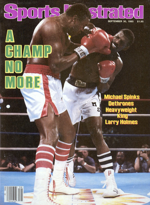 Michael Spinks beats Larry Holmes in 15 rounds to win the heavyweight boxing title. Spinks becomes the first world Light Heavyweight champion ever to win the world Heavyweight title.