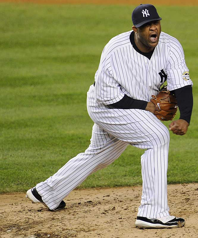 CC Sabathia allowed one run on four hits over eight innings.