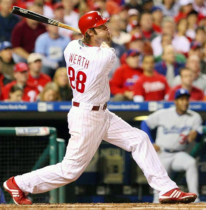 Jayson Werth hit two homers to lead Philadelphia'soffense as it wrapped up another trip to the World Series.
