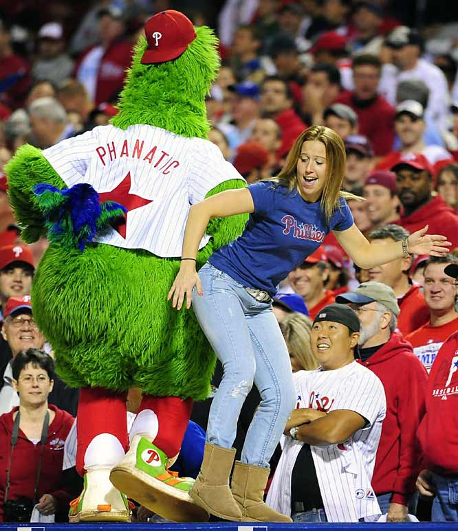 The Phillies fans began the celebration early.