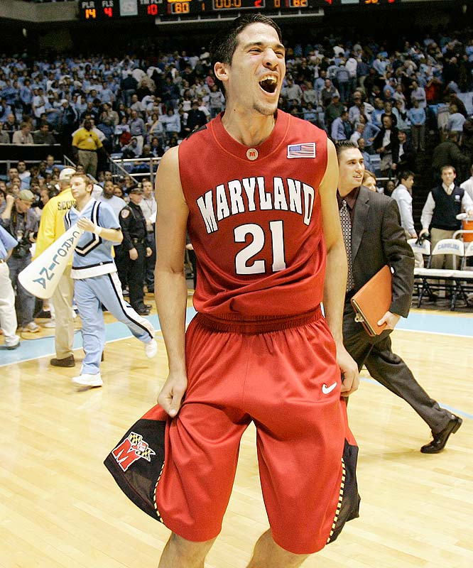 This pick will, like Vasquez himself, be controversial. But no player shows more raw emotion -- revving up his own fans, angering road crowds, even exchanging insults with his own student section -- than the Terps' Venezuelan combo guard. You don't know what you're going to get from Vasquez night-in and night-out; it could be a meltdown, like the 2-for-10, four-point game he had in a blowout loss to Duke last season, or it could be a tour de force, like the 35-point, 11-rebound, 10-assist show he put on in an upset of North Carolina. Whether you love him or hate him, you're always compelled to watch. His combination of energy, flair, unpredictability and skill is unrivaled in college hoops.