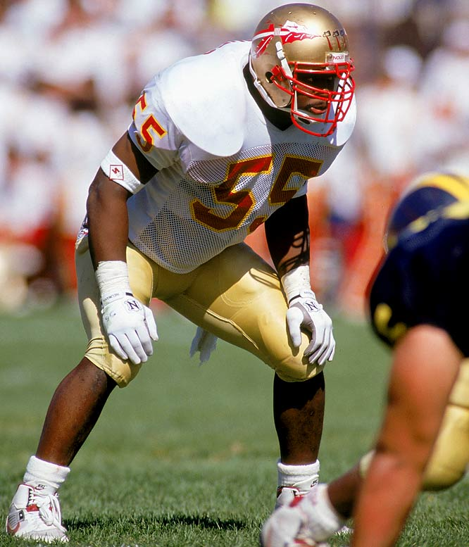"As a junior, ""Shade Tree"" had 111 tackles and seven tackles for loss and finished fourth to Miami's Gino Torreta. The linebacker was the first Florida State player to win two national awards in the same year, winning the Butkus and Lombardi."