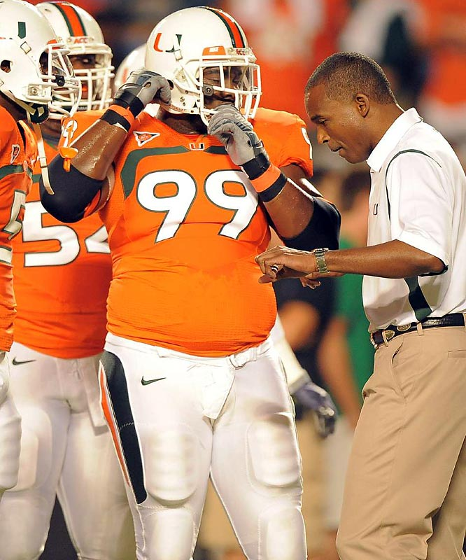 Miami's young, athletic offense has earned it much praise, but its defense suffered big loses when Futch and Forston (pictured) were lost for the year. Futch injured his knee in the Hurricanes' game versus Florida A&M, while Forston's lingering shoulder injury just won't go away.