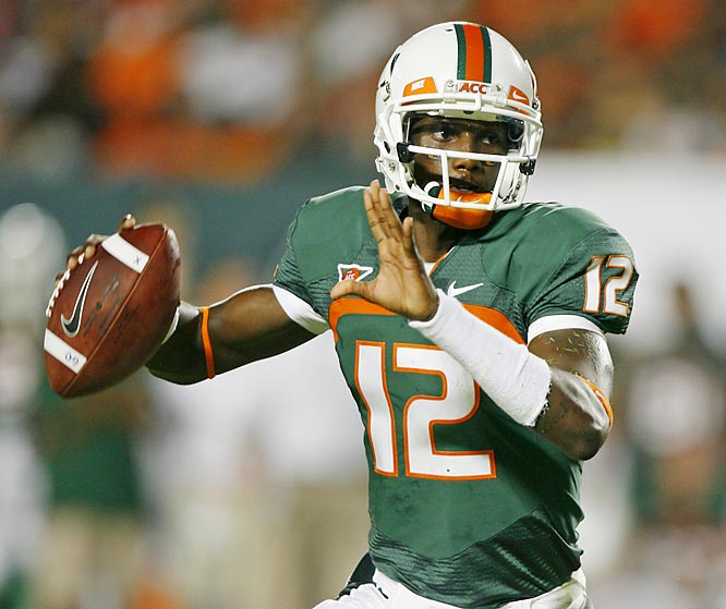 In its first game this season against an unranked opponent, Miami had six players score a touchdown and 12 catch at least one pass. Jacory Harris connected on 16 of his 24 attempts for 217 yards and two touchdowns in just two quarters of work.