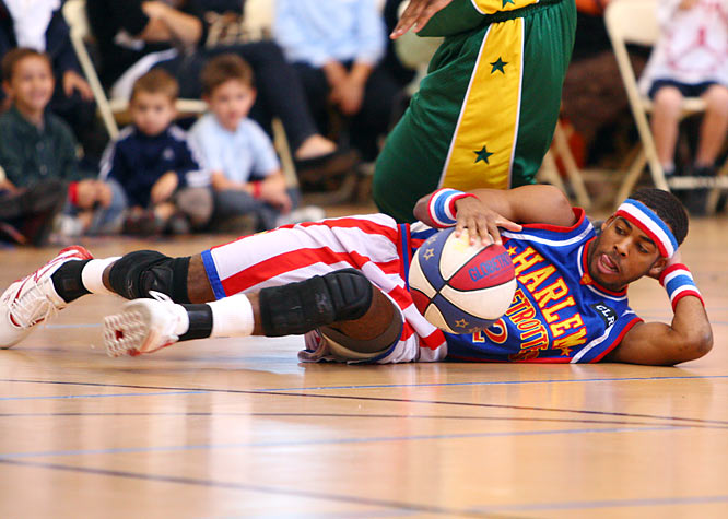 Lying down is part of the job for dribbler extraordinaire Ant Atkinson.