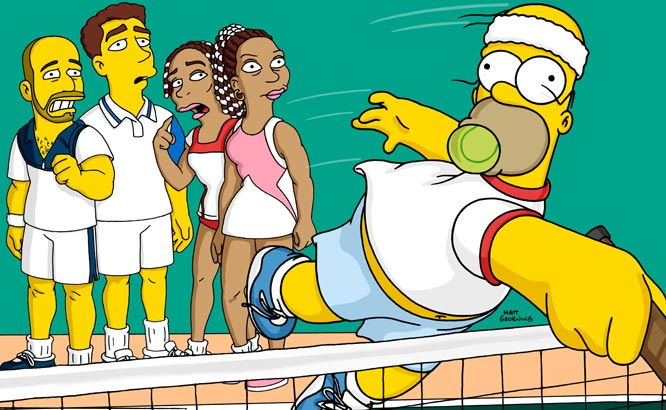 "Andre Agassi appeared in the 2001 ""Tennis the Menace"" episode of The Simpsons, along with Pete Sampras, Venus Wlliams and Serena Williams."