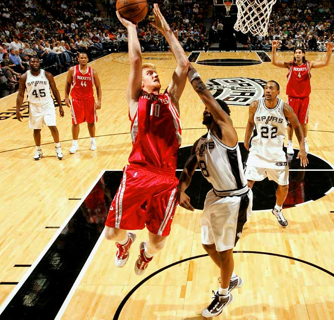 No team is in search of offensive weapons more than the Rockets, who must replace Yao Ming, Ron Artest and Tracy McGrady (for at least part of the season). Budinger, an athletic swingman with deep shooting range, looks like he could be part of the solution: He's been Houston's third-leading scorer in the preseason.