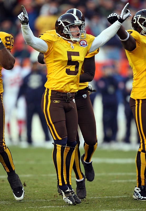 The Denver Broncos wore their old brown and yellow uniforms Oct. 11 against the Patriots. They'll wear them again Oct. 19 against the Chargers.