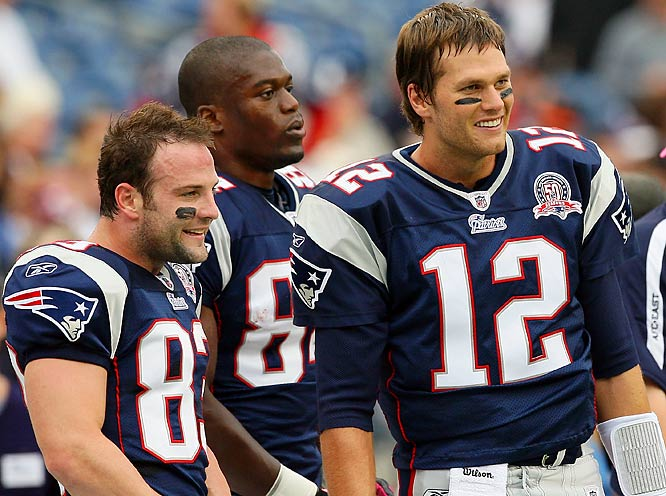 Brady played two games this year without his security blanket, Wes Welker (83), who's been battling a sore knee. They were in fine form last Sunday, teaming up for six receptions and 48 yards.