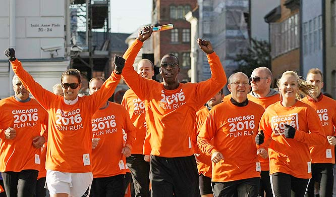 What do you get when you put a retired soccer star, a retired track star and a gold-medalist Olympian in a fun run?