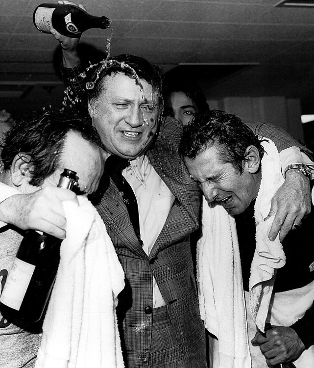 Under the direction of two different managers, New York won World Series in 1977 and 1978, providing plenty of reason for Steinbrenner to celebrate. They were the Yankees' first titles since 1962.