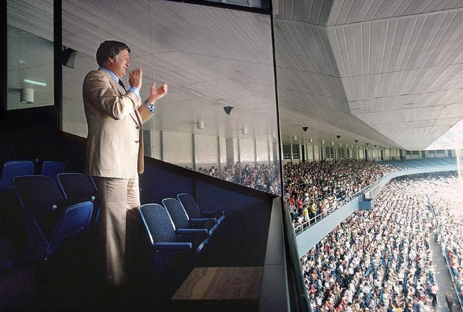 Steinbrenner's Yankee Stadium owner's box was a place he frequented, as well as a source of a handful of memorable moments in Yankees history. Perhaps the most unforgettable is Roger Clemens announcing his return to the Yankees from the box in May 2007.