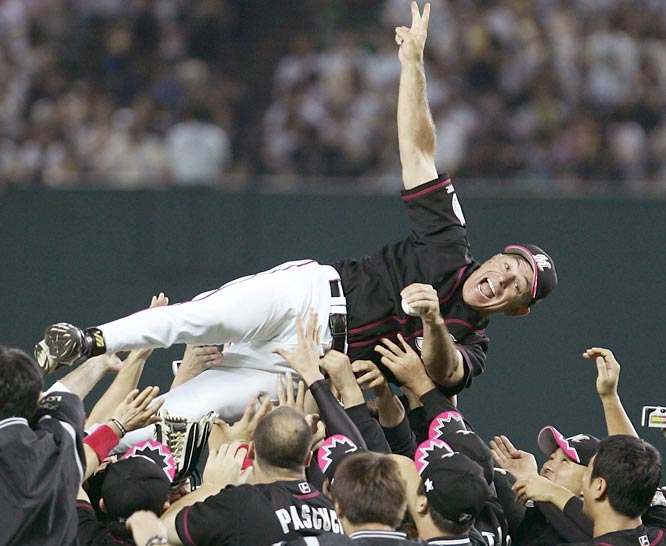 Bobby Valentine becomes the first foreign manager to win the Japan Series in the 70-year history of Japanese baseball. Sweeping the Hanshin Tigers, the former Rangers and Mets skipper lead the Chiba Lotte Marines to their first league championship in 31 years.