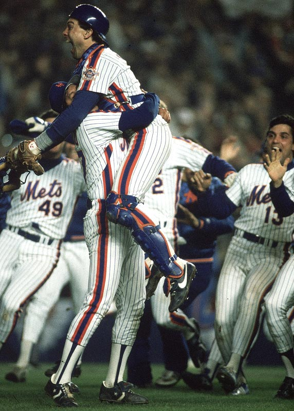 In another dramatic comeback win, the Mets defeat the Red Sox, 8-5, to win Game 7 of the Fall Classic to become World Champions for the second time in the 25-year franchise history.